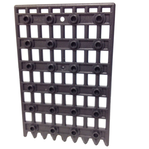 Lego Parts: Door 1 x 8 x 12 Castle Gate - Portcullis (Pearl Dark Gray)