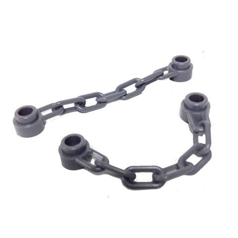 Lego Parts: Chain - 5 Links (Pack of 2 - Dark Bluish Gray)