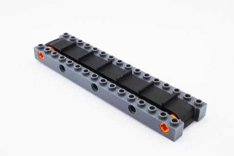 Lego Parts: Modern Conveyor Belt - 16 Studs Long (Complete Assembly)