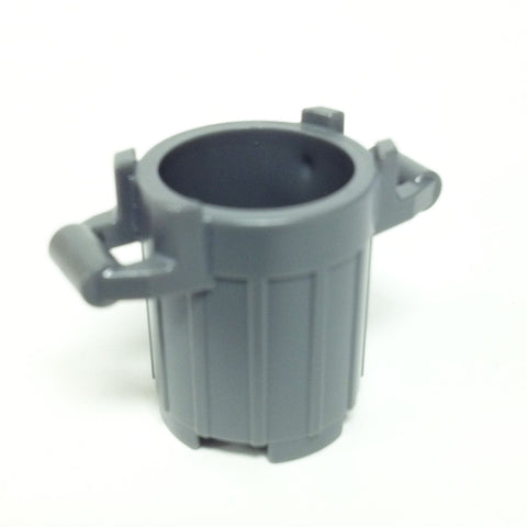 Lego Parts: Trash Can Container with 4 Cover Holder Tabs (DBGray)