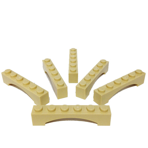 2 pack beige Lego Brick Arch 1 x 6  3455 in brick yellow