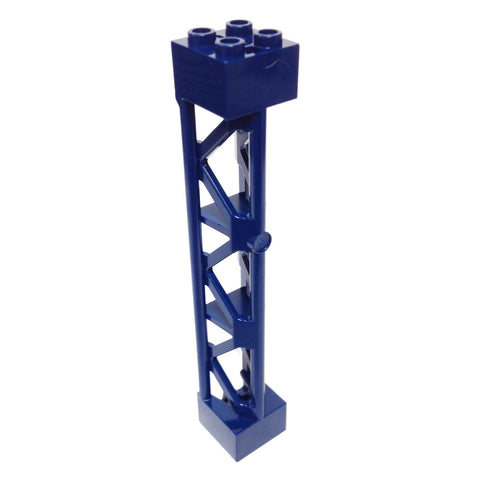 Lego Parts: Support 2 x 2 x 10 Girder Triangular Vertical - Type 4 - 3 Posts, 3 Sections (Dark Blue)