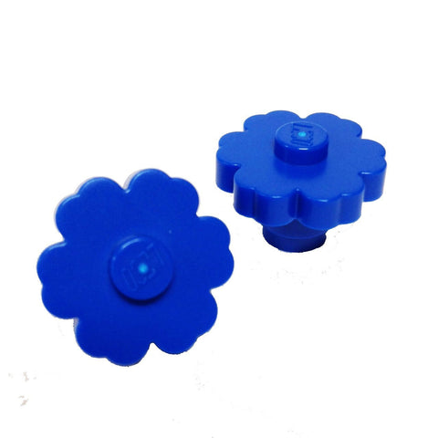 Lego Parts: Plant Flower 2 x 2 - Rounded Solid Stud (PACK of 2 - Blue)
