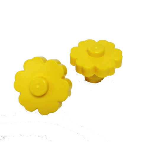 Lego Parts: Plant Flower 2 x 2 - Rounded Solid Stud (PACK of 2 Yellow Flowers)