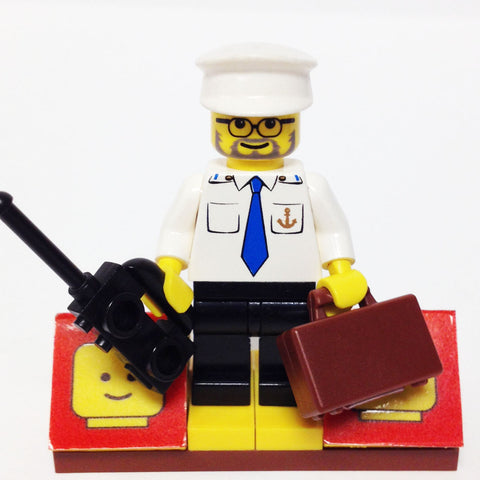 "MinifigurePacks: Lego City/Town Bundle ""(1) BOAT CAPTAIN"" ""(1) FIGURE DISPLAY BASE"" ""(2) FIGURE ACCESSORIES"""