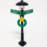 "MinifigurePacks: Lego® City/Town ""STREET SIGN - LAMP POST"" Intersection of AFOL & Brick"