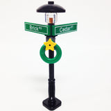 "MinifigurePacks: Lego® City/Town ""STREET SIGN - LAMP POST"" Intersection of Cedar & Brick"