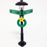 "MinifigurePacks: Lego® City/Town ""STREET SIGN - LAMP POST"" Intersection of MOC & Front"