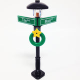 "MinifigurePacks: Lego® City/Town ""STREET SIGN - LAMP POST"" Intersection of Tile & Main"