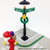 "MinifigurePacks: Lego® City/Town ""STREET SIGN - LAMP POST"" Intersection of Walnut & Main"