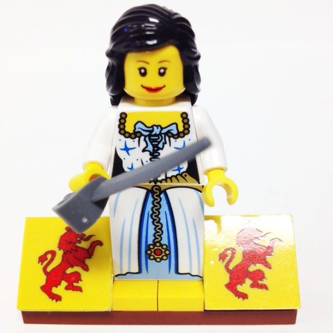"MinifigurePacks: Lego® Pirates Bundle ""(1) ADMIRAL'S DAUGHTER"" ""(1) FIGURE DISPLAY BASE"" ""(1) FIGURE ACCESSORIES"""