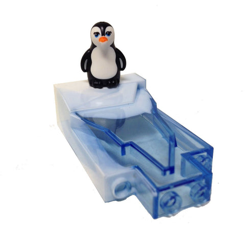 MinifigurePacks: Lego City Holiday Bundle (1) Rock Panel 2 x 4 x 6 - Ice Pattern (1) Penguin with Blue Eyes