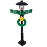 "MinifigurePacks: Lego® City/Town ""STREET SIGN - LAMP POST"" Intersection of Plate & Elm"