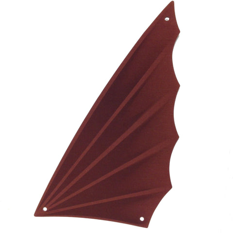 Lego Parts: Cloth Sail Triangular 18 x 34 with Winged Edge and Dark Brown Pattern
