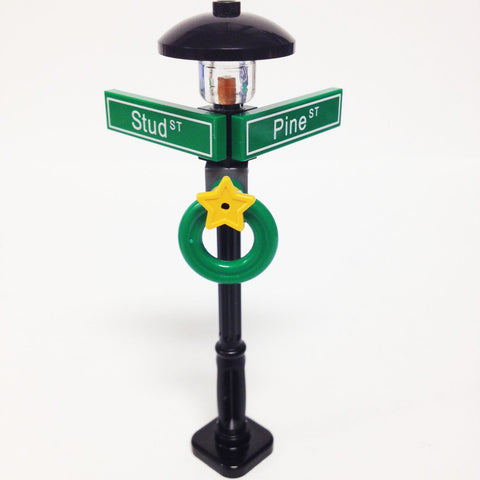 "MinifigurePacks: Lego® City/Town ""STREET SIGN - LAMP POST"" Intersection of Stud & Pine"