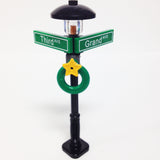"MinifigurePacks: Lego® City/Town ""STREET SIGN - LAMP POST"" Intersection of Third & Grand"