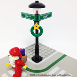"MinifigurePacks: Lego® City/Town ""STREET SIGN - LAMP POST"" Intersection of Tile & Oak"