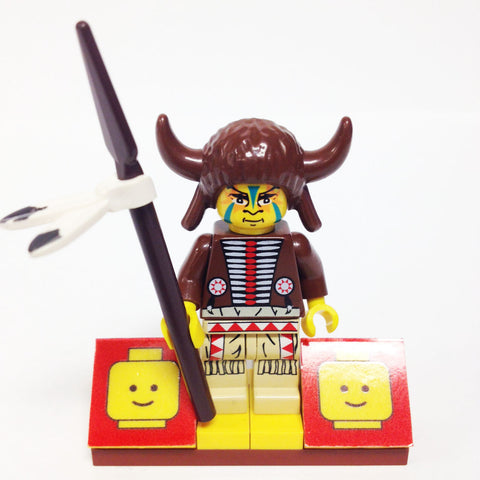"MinifigurePacks: Lego Western - Indians Bundle ""(1) MEDICINE MAN"" ""(1) FIGURE DISPLAY BASE"" ""(1) FIGURE ACCESSORY"""