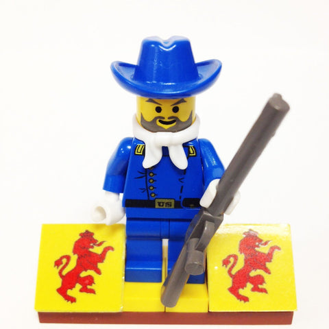 "MinifigurePacks: Lego® Western - Cowboys Bundle ""(1) CAVALRY COLONEL COLT CARSON"" ""(1) FIGURE DISPLAY BASE"" ""(1) FIGURE ACCESSORIES"""