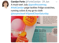 Carolyn Forte from Good Housekeeping Magazine calls Toryen her go-to cleaning cloth