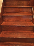 Wood  Stairs cleaned with Toryen microfiber cleaning rag