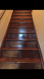 Wood Stairs Cleaned with Toryen Microfiber