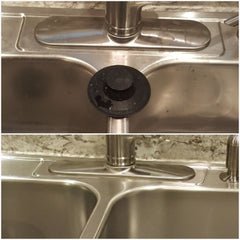 Clean water spots from stainless steel sink