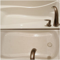 before and after whirlpool tub cleaning