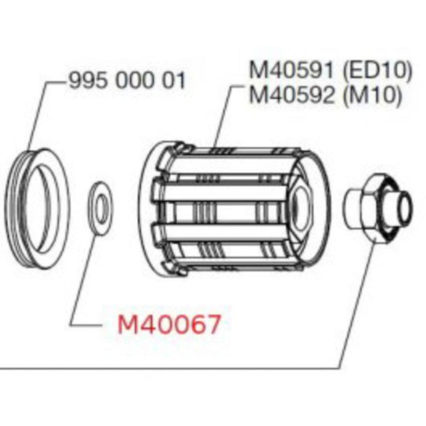 Mavic Freehub Spacer - M40067