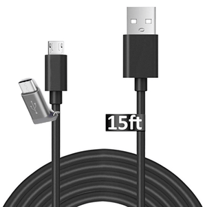 POWERCord-15' USB-C & USB-Micro (GoPro Hero 6/5 & Session)