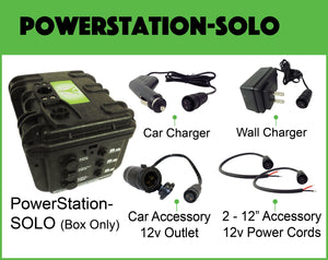 "POWERStation-PRO-KIT with LIGHT (Power Bank, PS-53"", PL-SOLO, DoubleBarrel, PC-12"", Silicone Rainproof Putty, Phone Mount 360, & Truck/Boat Decal)"