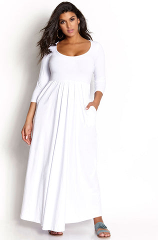 "Rebdolls ""No Mistakes"" Front Slit Maxi Gown"