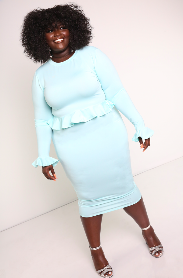 Mint Bodycon Midi Skirt Plus Sizes