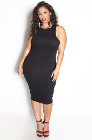 "Rebdolls ""Sinful"" Mesh Accent Mid Calf Techno Dress - FINAL SALE CLEARANCE"