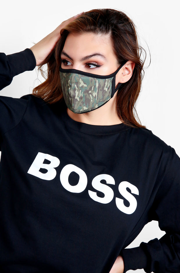 Camo Face Mask with Pocket