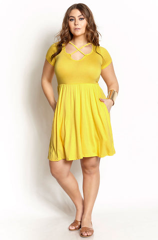 "Rebdolls ""Sitting Pretty"" Techno Skater Dress"
