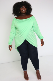 Mint Crossover Oversized Top Plus Sizes