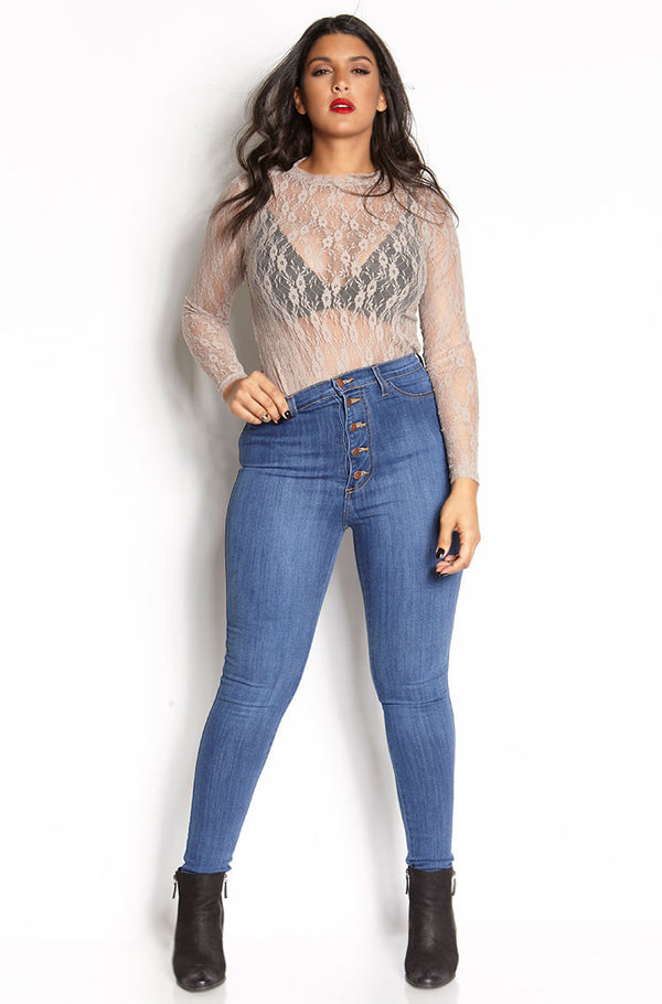 Blue Bloods Super Skinny High Waist Jeans plus sizes