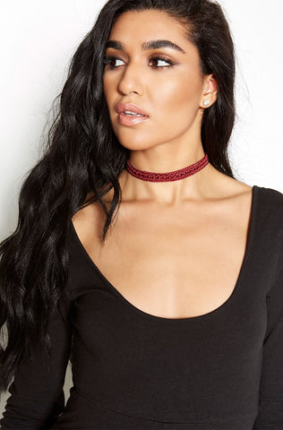"Rebdolls ""Latch On"" Velvet Choker"