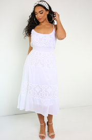 White Lace Maxi Dress Plus Sizes