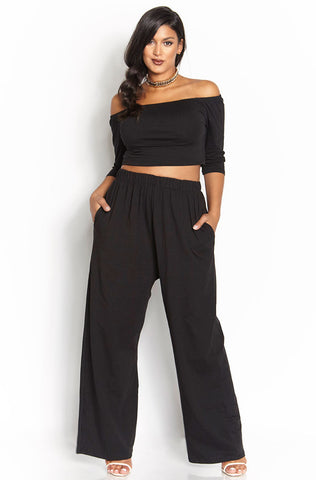 "Rebdolls ""Subliminal Messages"" Slit Leg Palazzo Pants - FINAL SALE CLEARANCE"