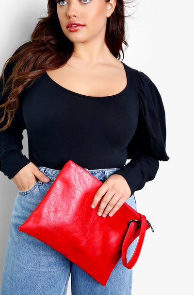 Red Medium Sized Clutch