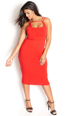 "Rebdolls ""Tied Up"" Halter Midi Dress"