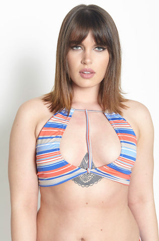 "Rebdolls ""Lined Up"" Tank Style Swim Top - FINAL SALE CLEARANCE"
