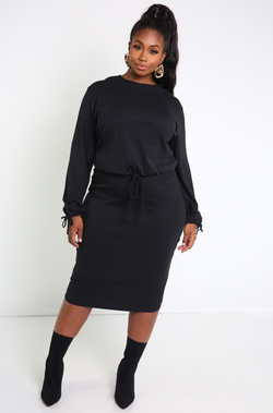 Black Long Sleeve Top Plus Sizes