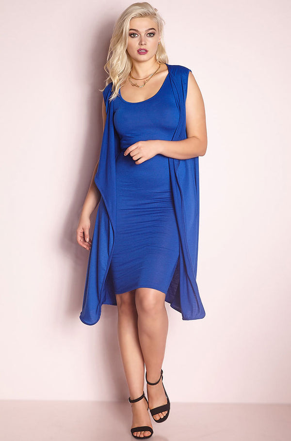 Blue Light Weight Duster plus sizes
