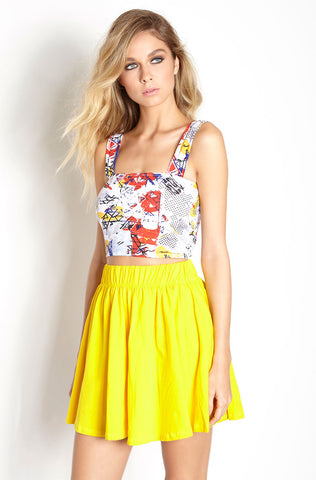 "Rebdolls ""All Ruffled Up"" Midi Skater Skirt - Final Sale Clearance"