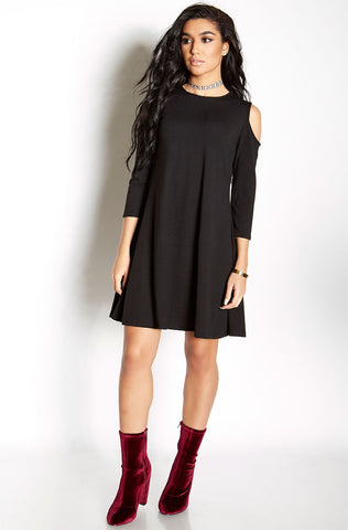 "Rebdolls ""Headlines"" Crew Neck Mini Dress"