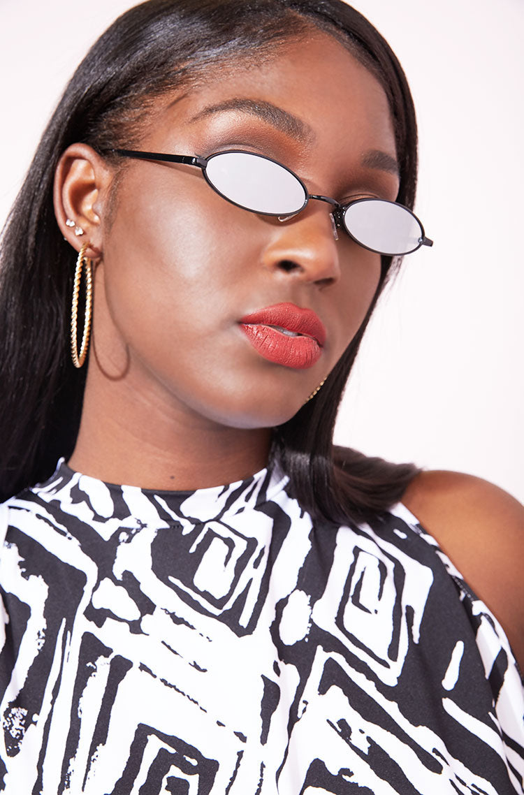 Silver Retro Sunglasses