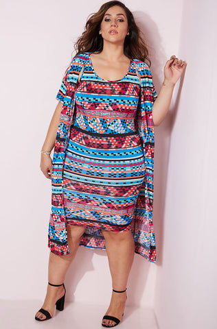 "Rebdolls ""Creepin' ""Caged Bust Midi Dress"